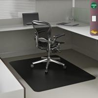 China Black Carpet and hard floor Chair Mats on sale