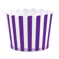 China Dress My Cupcake Striped Party Candy Cups,Set Of 24, Purple on sale