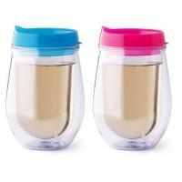 Best Double Wall Insulated 10 OZ Tumbler Stemless Wine Glass with Lid wholesale