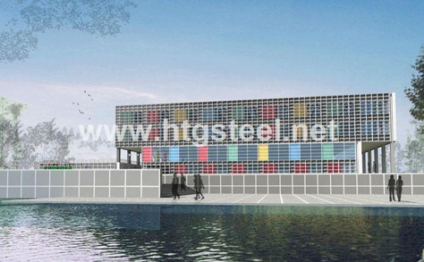 Cheap Steel Frame Calculator/facade by France BV Certified Having Exported 200,000 tons for sale