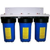 Best Pre Built High Flow Water Filter Housings 10Inch x 4Inch TRIPLE  1Inch Connection  BLUE wholesale