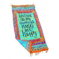 China Beach Towel Sunshine On My Shoulders Makes Me Happy LC42113-22 on sale