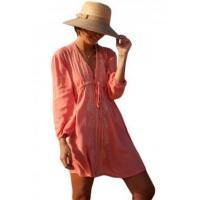 China Deep V Neck Embroidered Beach Tunic LC42154-10 on sale