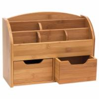 Best 100% Natural Bamboo Desk Organizer with 3 Drawers wholesale