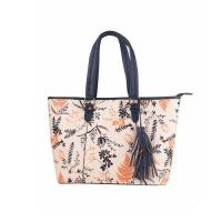 Handbags Floral Print Accented Tote Bag
