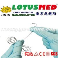 Surgical polyglycolic acid suture tray