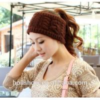 Best Fashion Accessories Best Selling Coffee Women Crochet Knitted Winter Headband wholesale