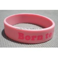 Best Silicone Wristband Product name:Silicone Wristband,Pink Imprinted Wristband wholesale