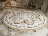 Best Stone Tiles & Slabs Polishing Round Stone Waterjet Medallions In Your Own Designs wholesale