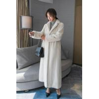 China Women Real Mink Fur Coat Full Length Ladies Winter Ankle Long Warm Wear White Color Cross-stitching on sale