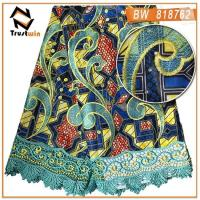 Buy cheap Wax print lace fabric | embroidery ankara lace fabric from wholesalers