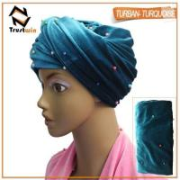 Buy cheap African turban hat headties in velvet material from wholesalers