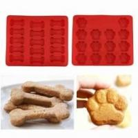 Best Puppy Paws & Bones Silicone Baking Molds-Pan-Ice Trays Set of 2 wholesale
