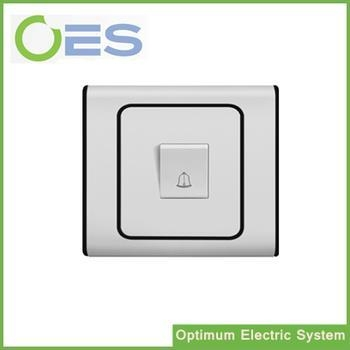 Cheap Factory Price One Gang Doorbell Wall Switch/Push Button Switch/ Wall Mounted Electrical Switch for sale