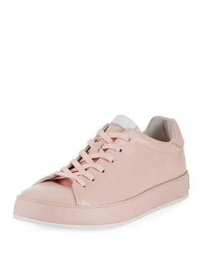 Cheap Rag & Bone Rb1 Spazzolato Low-Top Sneaker With Leather-Wrapped Sole Pink Women Shoes for sale