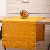 Buy cheap 100% LINEN NATURAL DYEING STONEWASHED TABLE RUNNER from wholesalers