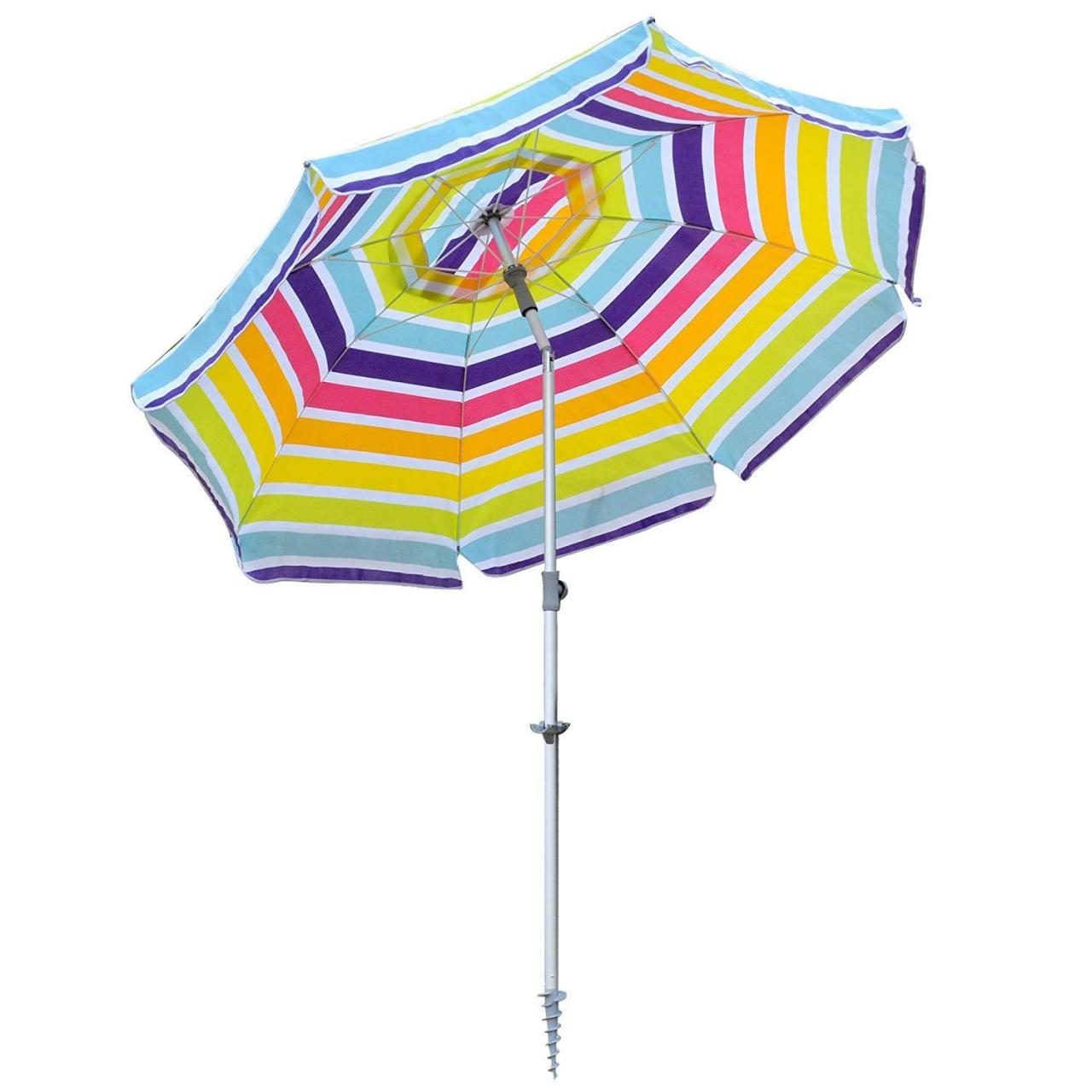 China 7FT Vented Beach Umbrella with Tilt and Telescoping Aluminum Pole Pool Outdoor Sun Umbrella on sale