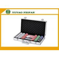 China Poker Chips Sets 6 Colors Professional Poker Chips Sets For Casino 300 Pcs Round Corner on sale