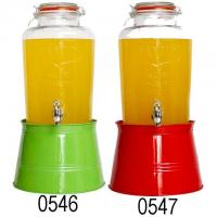 Buy cheap 8L FAMILY GLASS BEVERAGE DISPENSER W/COLORFUL ICE BUCKET from wholesalers
