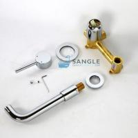 Best In-wall concealed basin cylinder copper water faucet chrome planted wholesale