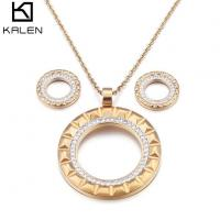 Golden Plated Jewelry Sets For Women Luxury Set