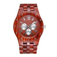 Retro Stylish Red Watch Nature Wooden 2018 Men Luxury Watch