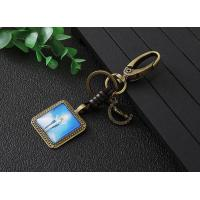 Square shape alloy keychain