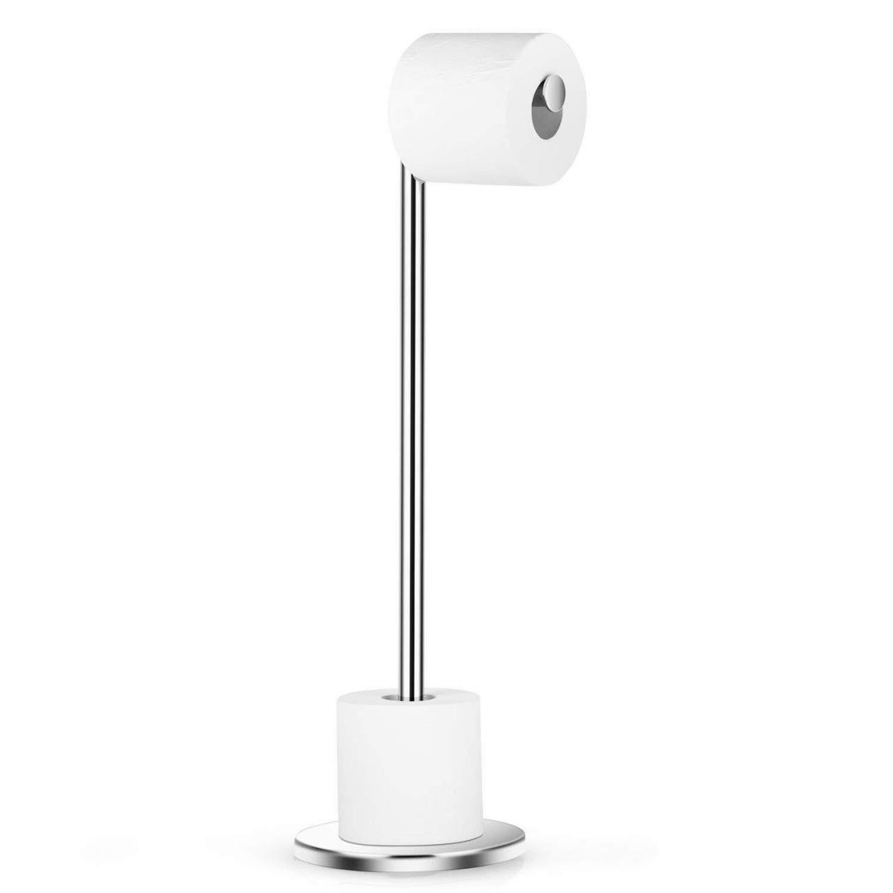 China Dailyart Stainless Steel Toilet Paper Holder Free Standing with Reserve Tissu06 on sale