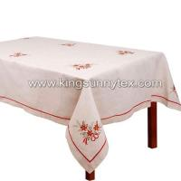Best Table Cloths Beautiful Christmas Embroidered Tablecloth wholesale