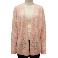 Best Ladies Knitted Pointelle Marling Sweater wholesale