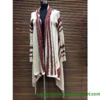 Best lady turn-down collar cardigan with tassels wholesale