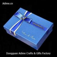 manufacturer luxury art touch paper ribbon jewelry gift lid box with logo