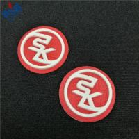 Best Customized 3d logo soft pvc heat press silicone raised rubber heat transfer clothing label wholesale