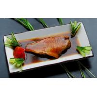 Prepared Foods Red fish slices boiled with fresh ginger