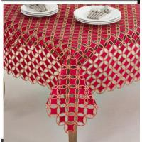 Best Polyester Tablecloths Red Embroidery Tablecloth wholesale