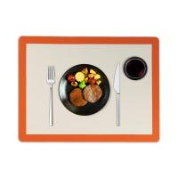 China Mulit Color Square Trendy Silicone Table Placemat on sale