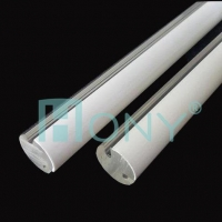 Best HONYClear/Opal double color Acrylic round solid rod LED light diffuser for decoration wholesale