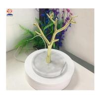 Best White Marble Base Small Tree Jewelry Display Stand with Metal wholesale