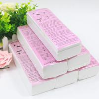 China Free Sample Paper Disposable Cotton Fabric Depilatory Wax Strips for Women on sale