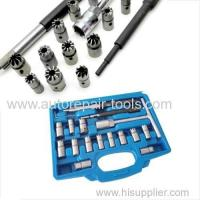 China 17pcs Diesel Injector Seat Cutter Set Universal Tool Kit on sale