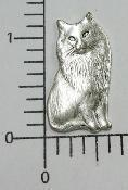 Buy cheap 1 Pc Victorian Sitting Cat Jewelry Finding Matte Silve Oxidized from wholesalers