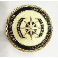 Best Brass Gold Customize Challenge Coins Souvenirs With Diamond Cut Edge wholesale