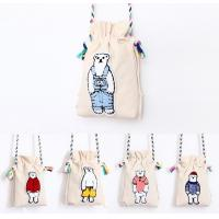 Buy cheap New Fashion Custom lovely Mini Cotton Canvas shoulder Drawstring Bag from wholesalers