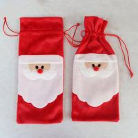 Buy cheap Portable Christmas festival santa suit wine bottle cover felt bags from wholesalers