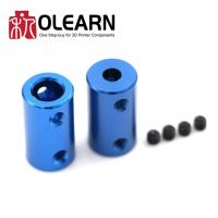 China 3D Printers Parts Blue Flexible Shaft Coupler Screw Part For Stepper Motor on sale