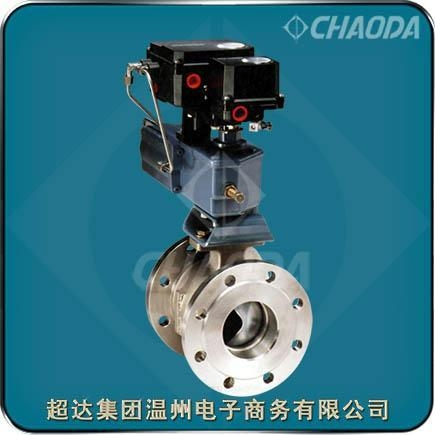 Cheap Pneumatic Actuated Flanged V Type Ball Valve for sale