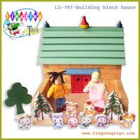 Quality Woodentoys,Building Block House (LX-187) wholesale